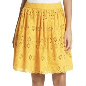 Kate Spade NWT Spice Things Up Yellow Eyelet Skirt